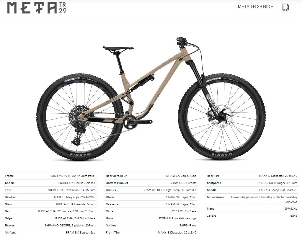 Meta TR 29 Ride