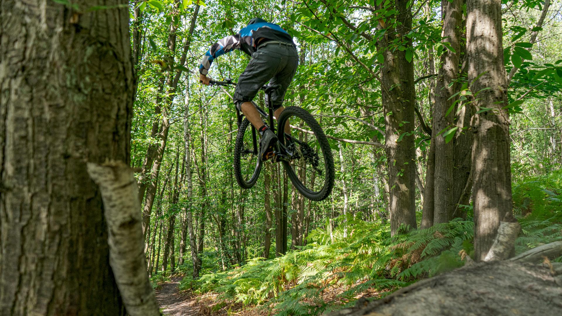 Cannondale Habit 6 riding jump vue de derrière