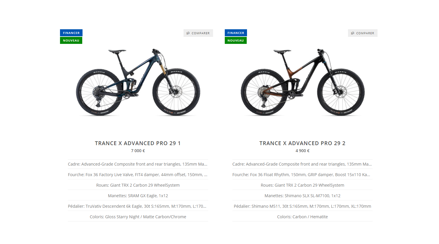 Gamme Giant Trance X 2022
